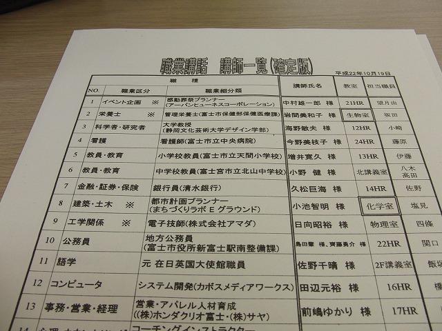 富士東高校の職業講話_f0141310_5145477.jpg