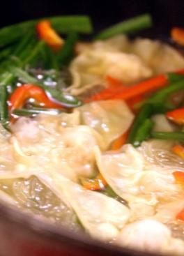"""土鍋 """"継"""" でつくる美味しいワンタン鍋_b0204930_22365124.jpg"""