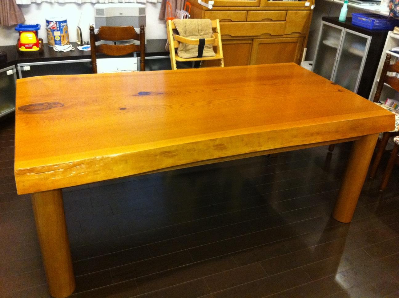 秋田杉天板でテーブル製作_c0050900_2035343.jpg
