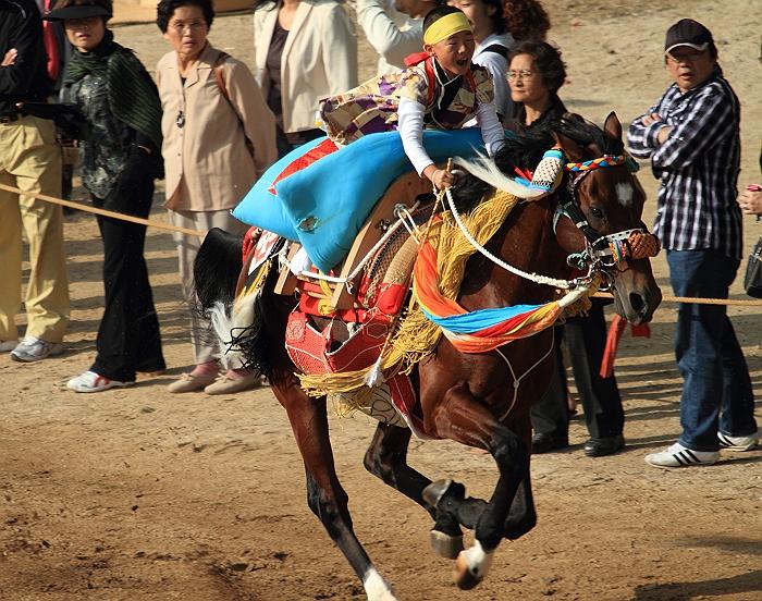 """""""菊間祭り"""" お供馬の走り込み_a0140608_10521662.jpg"""