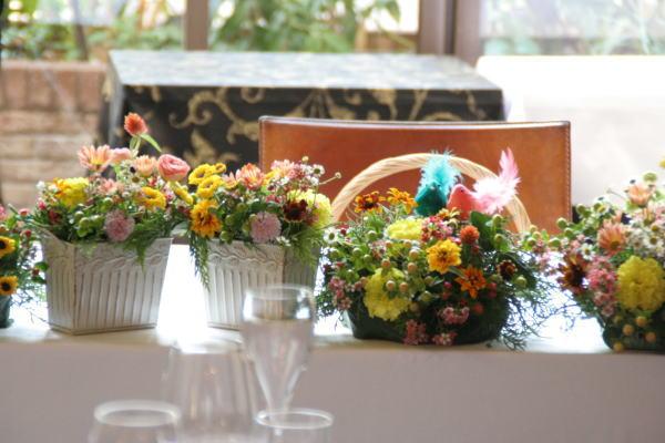 クランベリー色のドレスに 可愛い花で アンカシェット様へ _a0042928_22211063.jpg