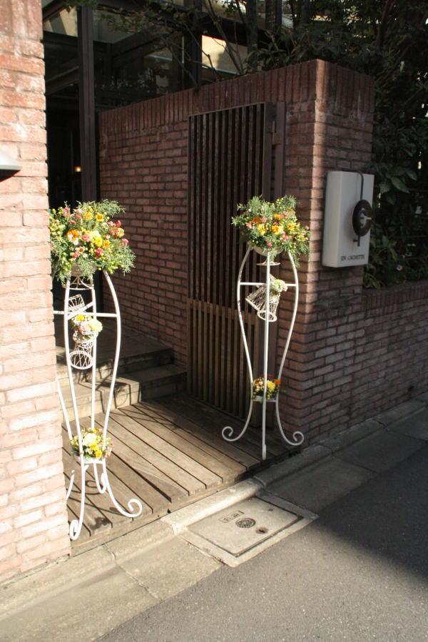 クランベリー色のドレスに 可愛い花で アンカシェット様へ _a0042928_2221335.jpg