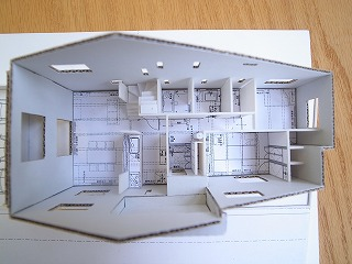 「加木屋町の家Ⅱ」 スタディ模型_f0059988_9295682.jpg