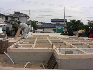 『加木屋町の家Ⅱ』 垂木加工 土台敷き_f0059988_14213670.jpg