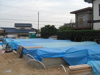 『加木屋町の家Ⅱ』 垂木加工 土台敷き_f0059988_14215366.jpg