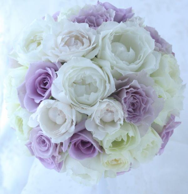 白と紫のバラのブーケ シャングリ・ラ ホテル様へ_a0042928_21481833.jpg