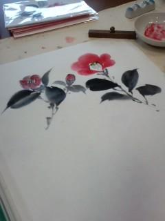 椿の花がやさしく描かれていましたよ_f0180576_151734100.jpg