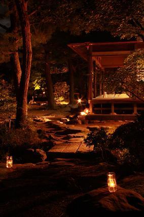 清水園の秋祭り☆夜のライトアップ_e0135219_11415659.jpg