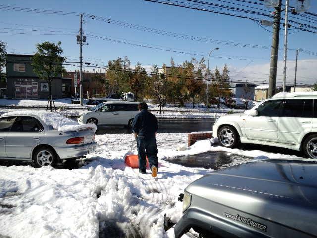 店長のニコニコブログ!久しぶりの雪かきからスタート!_b0127002_21563955.jpg