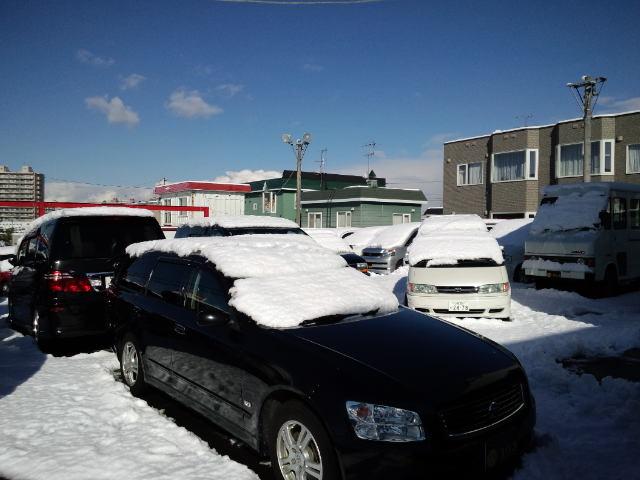 店長のニコニコブログ!久しぶりの雪かきからスタート!_b0127002_21565778.jpg