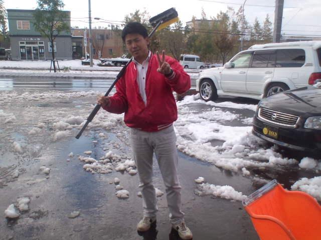 店長のニコニコブログ!久しぶりの雪かきからスタート!_b0127002_21571617.jpg