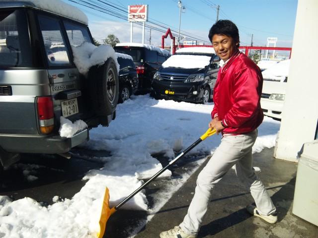 店長のニコニコブログ!久しぶりの雪かきからスタート!_b0127002_21574113.jpg