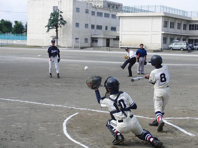 富士市議会野球部vs吉原一中野球部_f0141310_23362790.jpg