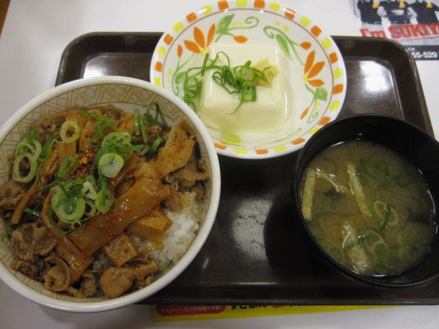 10/27夜勤明け 食べラーメンマ牛丼(並)¥380@すき家_b0042308_8304972.jpg