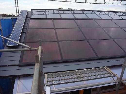 袴塚の家 屋根完成 2010/10/29_a0039934_18324030.jpg