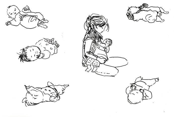 今月の赤ちゃんスケッチ_f0072976_0222444.jpg
