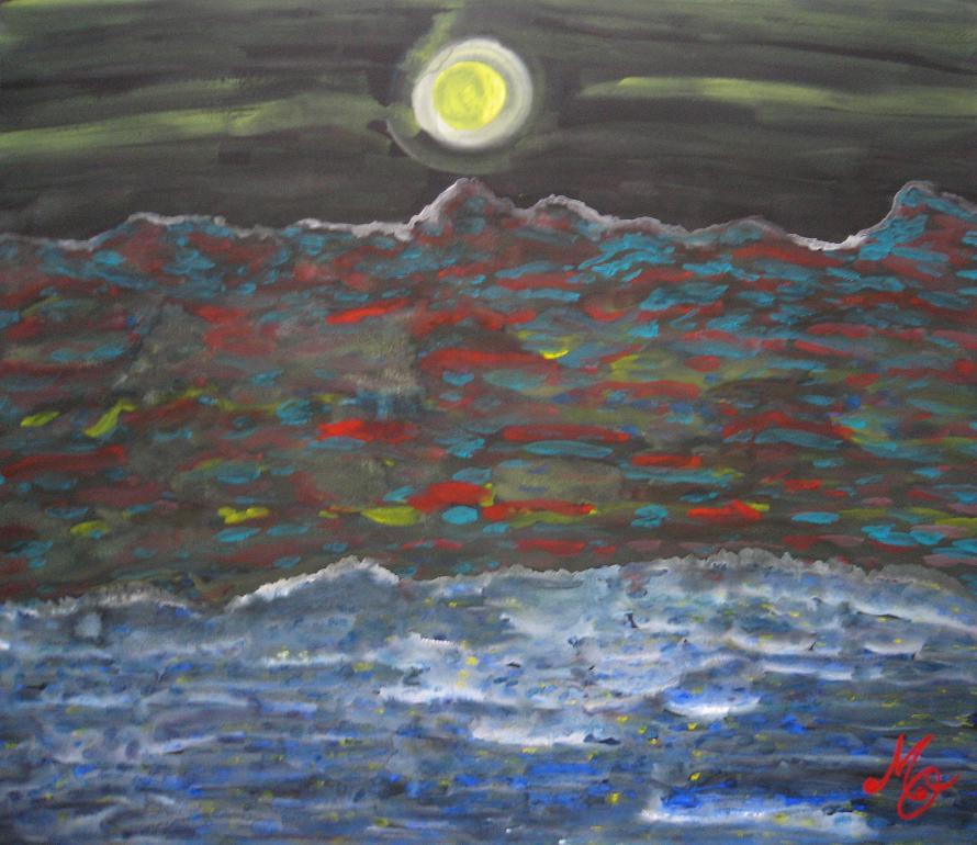 月が漂う    新作です。_c0186580_12352247.jpg