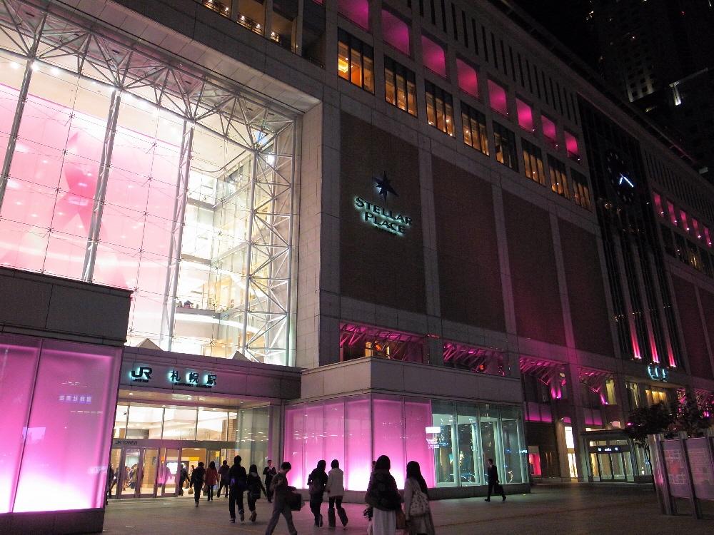 ピンクの札幌駅_b0103470_20435282.jpg