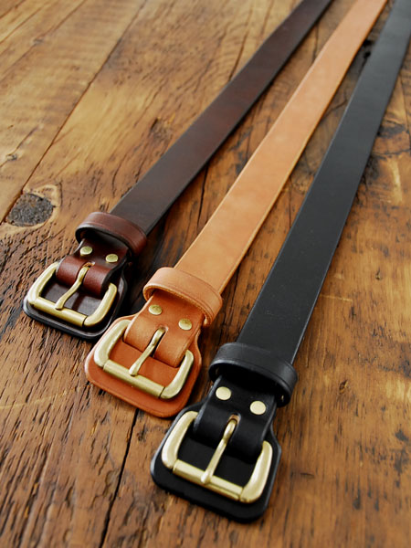 BRASS BUCKLE LEATHER BELTS_c0146807_11333263.jpg