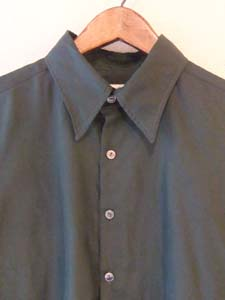 深いグリーンのメンズシャツ (フルオーダー)_b0199696_13344294.jpg
