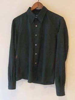 深いグリーンのメンズシャツ (フルオーダー)_b0199696_13384767.jpg