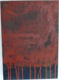 2011/2/9-2/14 粥川仁平 作品展 墨液でスペインを描く アフリカからの風 その2_e0091712_15541793.jpg