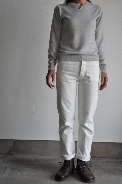 RINEN/リネン 14G V-Neck Knit