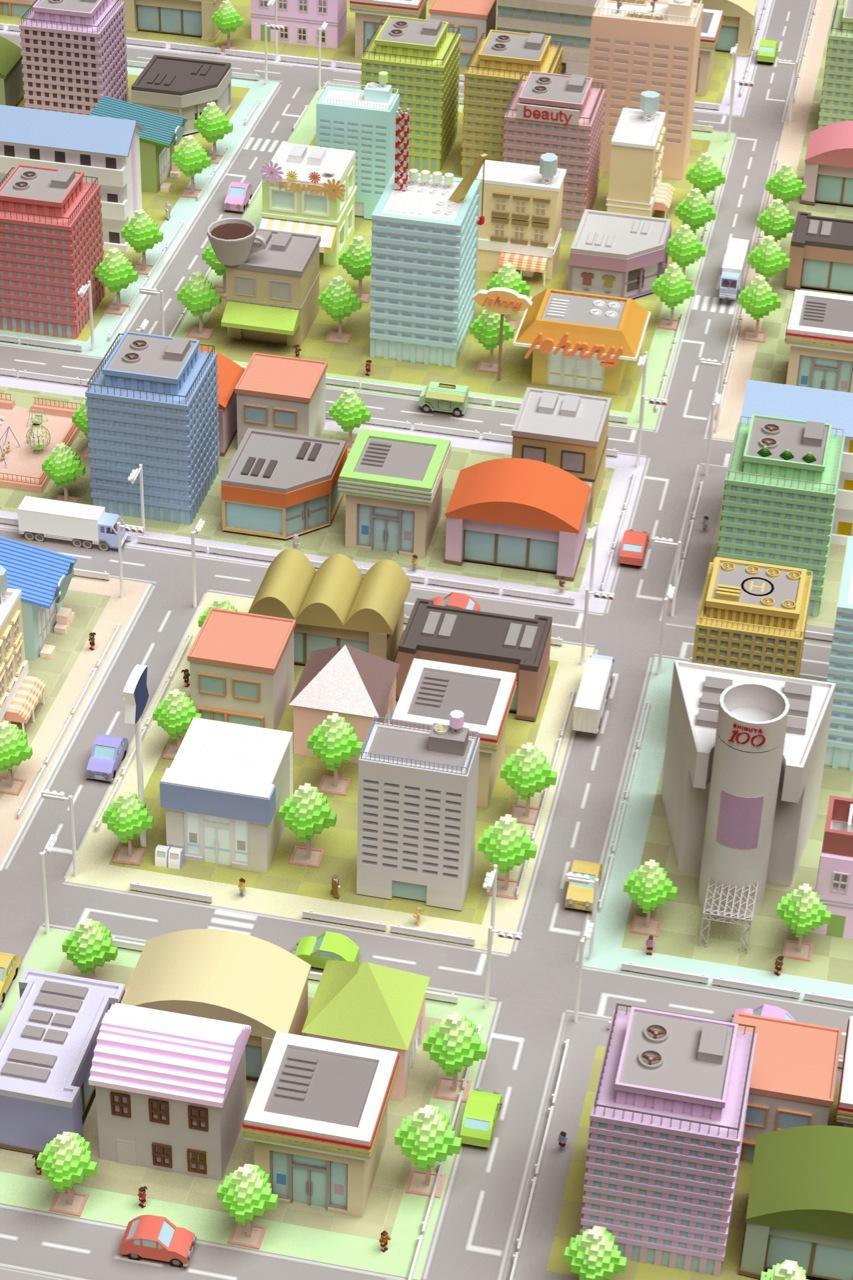 3DCG 街並み
