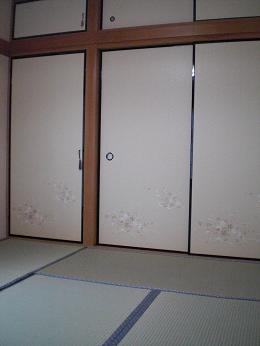 入居前の中古住宅リフォーム中です。~ 和室の畳と襖の張替え完成_d0165368_5452912.jpg