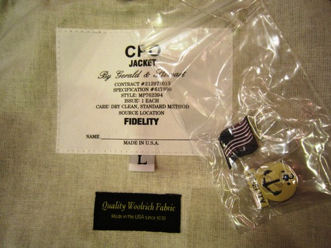 "FIDELITY × WOOLRICH ""CPO SHIRTS JACKET (HoundsTooth)\""_f0191324_2483240.jpg"