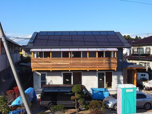 袴塚の家 足場撤去 2010/11/5_a0039934_17513428.jpg