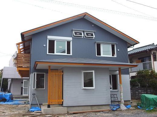 袴塚の家 足場撤去 2010/11/5_a0039934_17533649.jpg