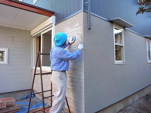 袴塚の家 足場撤去 2010/11/5_a0039934_180325.jpg