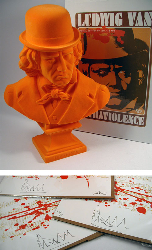 Orange Flocked Ludwig Van Bust + Print_e0118156_135633.jpg