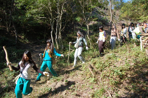 岬高校「MISAKIプロジェクト2010」;孝子の森植樹サポート_c0108460_18264544.jpg