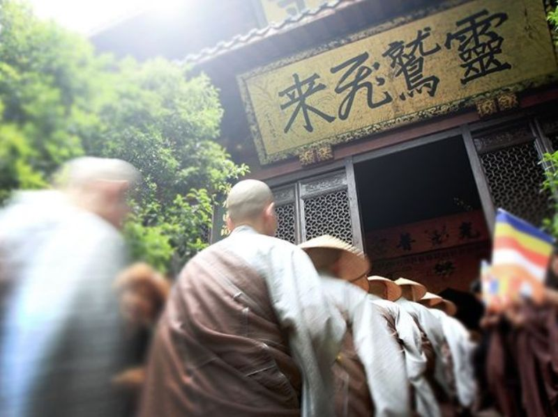 ■杭州・霊隠寺の托鉢僧_e0094583_3373479.jpg