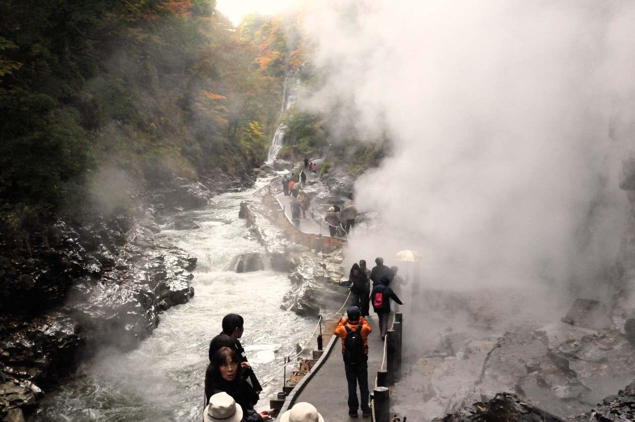 秋田県小安峡の紅葉_a0148206_652355.jpg
