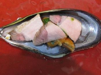 11月の料理「瀬戸貝とアグー豚」_d0177560_21495056.jpg