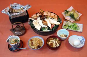 松茸小屋で 松茸尽くしのお料理を・・_f0236260_1593184.jpg