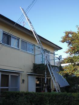 雨漏りしていた屋根の部分葺き替え~工事開始です!_d0165368_741995.jpg