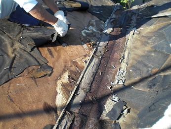 雨漏りしていた屋根の部分葺き替え~漏れ箇所は予想通りでした。_d0165368_6115141.jpg