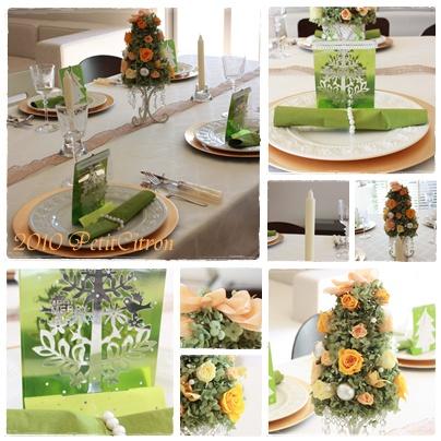 手作りツリーのクリスマステーブル♪_c0141025_051386.jpg