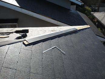 雨漏りしていた屋根の部分葺き替え~葺き替え工事開始。_d0165368_9301167.jpg