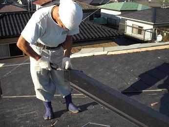雨漏りしていた屋根の部分葺き替え~葺き替え工事完了です。_d0165368_7242679.jpg