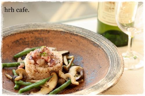 本格リゾットレシピ イカと焼き野菜を添えて_b0165178_9421460.jpg