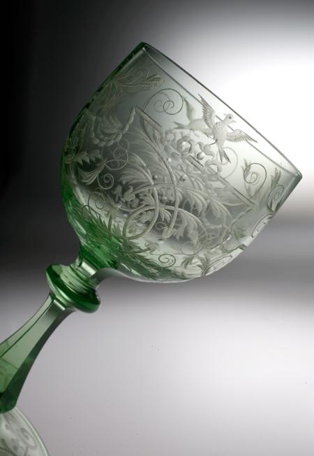"Lobmeyr \""ミラマーレ""グリーン・ワイングラス_c0108595_23214146.jpg"