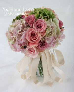 アジサイとバラを使った 花冠&リストレット&ブーケ_b0113510_2353268.jpg