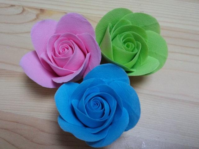 クレイの体験教室はバラの花をひとつ^^1コインで☆_f0180576_23155856.jpg