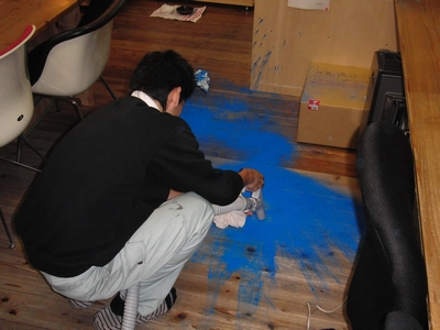 青い床!_b0131012_2158569.jpg