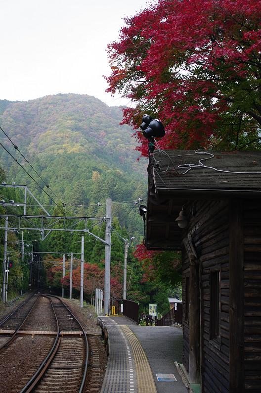 京都の紅葉2010 ~叡山電車・二ノ瀬駅~    と..._f0152550_22155433.jpg
